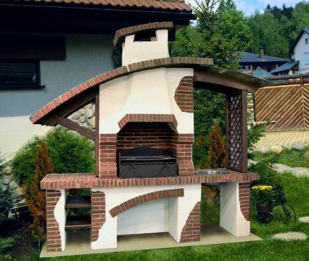 Садовая печь барбекю